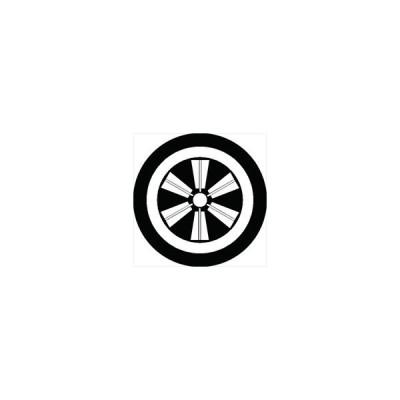 家紋シール 丸に六本扇車紋 直径4cm 丸型 白紋 4枚セット KS44M-0830W