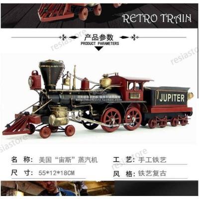 1880年アメリカンゼウス蒸気機関車 模造工芸品 装飾品 列車モデル 手作り 完成品模型 ZJC131