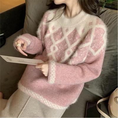 ⛄秋冬新作 髙品質!⛄韓国ファッション ニット オシャレ  長袖 可愛い ゆったり  レディース トップス
