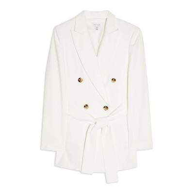 トップショップ TOPSHOP テーラードジャケット ホワイト 6 レーヨン 92% / ポリエステル 8% テーラードジャケット