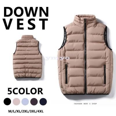 ダウンベスト メンズ 中綿ベスト 秋冬 ペアベスト アウター ミリタリージャケット 大きいサイズ カジュアル オシャレ ゆったり 新作