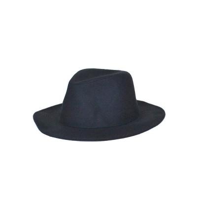 ★AW 帯ナシメルトンツバ広フェドラハット ヤング帽子 77