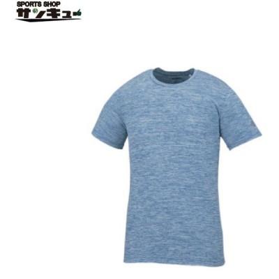 (アシックス)asics トレーニングウエア 半袖Tシャツ A77 XA6217 98 メディトレニアンブルー杢