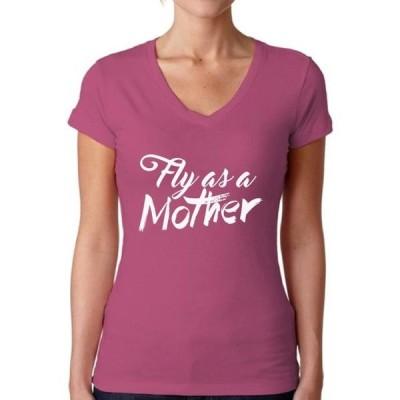 レディース 衣類 トップス Awkward Styles Women's Fly As A Mother Inspirational V-neck T-shirt Mother`s Day Gift Tシャツ