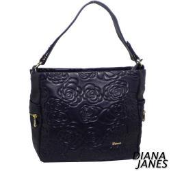 Diana Janes玫瑰壓紋經典兩用包
