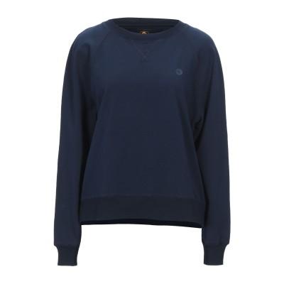 CIESSE PIUMINI スウェットシャツ ダークブルー 42 コットン 95% / ポリウレタン 5% スウェットシャツ