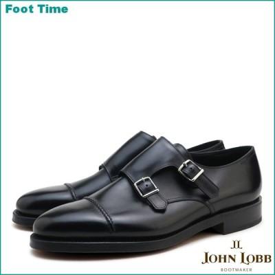 ジョンロブ ウィリアム2 ダブルレザー ブラック ダブルモンクストラップ ビジネスシューズ 紳士靴 メンズ