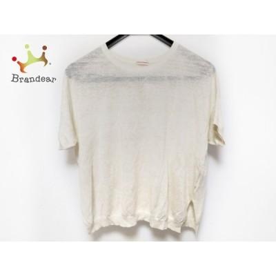 ドレステリア DRESSTERIOR 半袖セーター レディース - アイボリー クルーネック/シルク/麻 新着 20201212