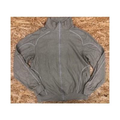 GAMA Lサイズ メンズ カットソーブルゾン 長袖 2ポケット モックネック フルジップ 綿100% ベージュ