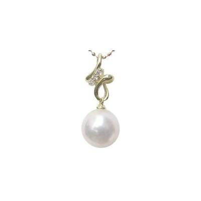 6月誕生石 ネックレスペンダント あこや真珠パール k18ゴールドネックレス ダイヤモンド 冠婚葬祭 プレゼント ギフト 人気