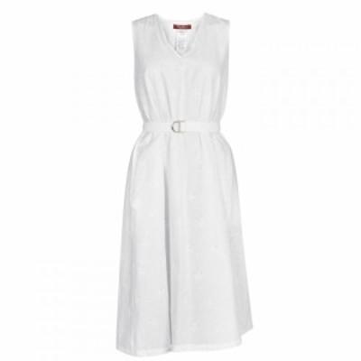 マックスマーラ Max Mara Studio レディース ワンピース ワンピース・ドレス MMS Suez Beltd Dress OPTICAL WHITE