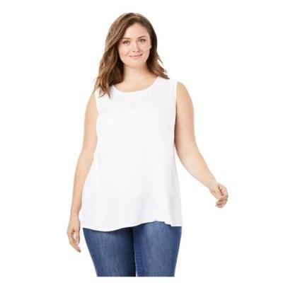 レディース 衣類 トップス Woman Within Women's Plus Size Sleeveless Shell ブラウス&シャツ