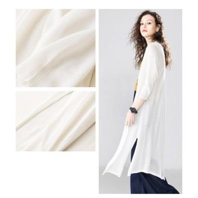 9colorロングカーディガン透け感UVカット冷房対策冷え対策夏カーデ羽織トップスレディースメール便