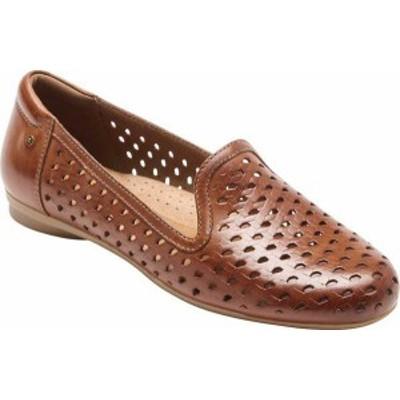 ロックポート レディース スリッポン・ローファー シューズ Women's Rockport Cobb Hill Maiika Woven Loafer Tan Full Grain Leather