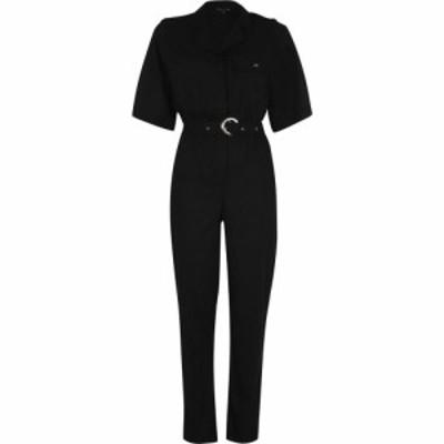ビバ Biba レディース オールインワン ジャンプスーツ ワンピース・ドレス Linen Jumpsuit Black