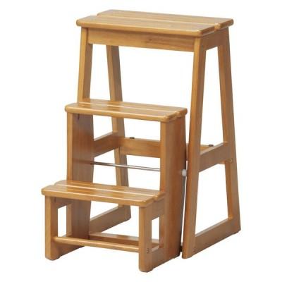 【直送可】ステップチェア3段 木製踏み台