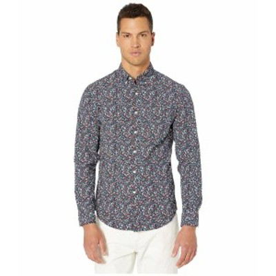 ジェイクルー メンズ シャツ トップス Slim Stretch Secret Wash Shirt in Botanic Print Organic Cotton Botanic Garden Flower