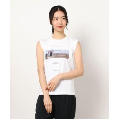 tシャツ Tシャツ Roberta BayleyプリントノースリーブTシャツ