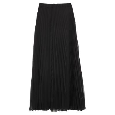 CLIPS ロングスカート ブラック 44 ポリエステル 100% ロングスカート