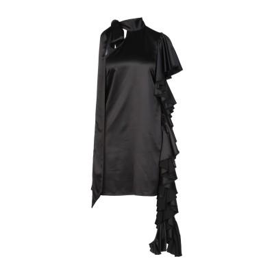 ALBERTO AUDENINO ミニワンピース&ドレス ブラック S ポリエステル 100% ミニワンピース&ドレス