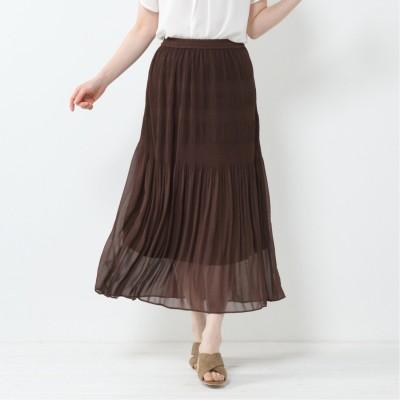 シフォンマジョリカプリーツスカート
