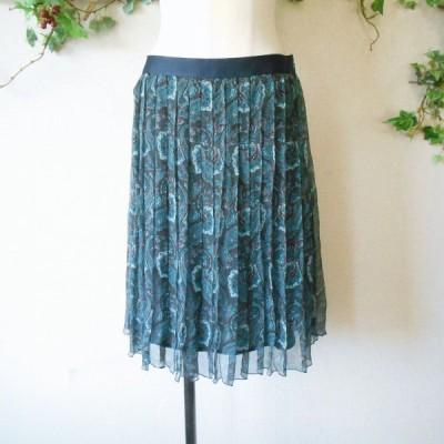 コムサ デ モード COMME CA DU MODE 絹 シルク 100% プリーツ スカート 日本製 9