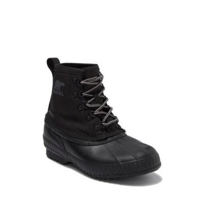 ソレル メンズ ブーツ&レインブーツ シューズ Cheyanne II Short Nylon Waterproof Boot BLACK BLACK