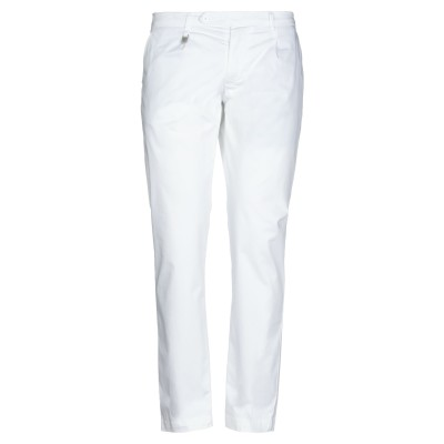 DESICA DESIDERIO CAMPANO パンツ ホワイト 36 指定外繊維(紙) 98% / ポリウレタン 2% パンツ