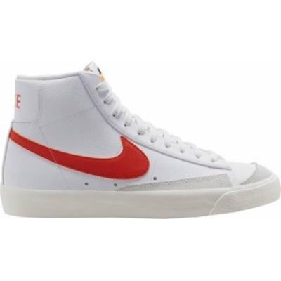 ナイキ メンズ スニーカー シューズ Nike Men's Blazer Mid '77 Vintage Shoes White/Orange