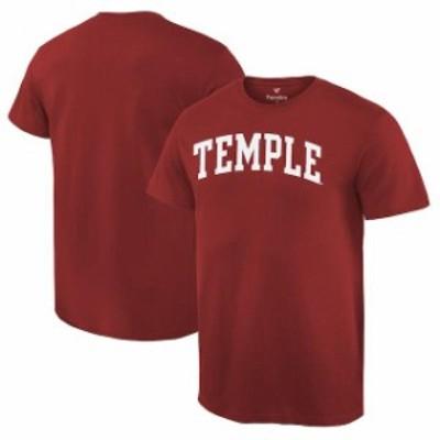 Fanatics Branded ファナティクス ブランド スポーツ用品  Fanatics Branded Temple Owls Cardinal Basic Arch T-Shirt