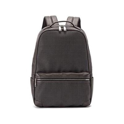 [トーテムリボー] ディパック ビジネス 豊岡鞄 soreソア 牛革 パンチング メンズ TRV0702 (グレー Free Size)