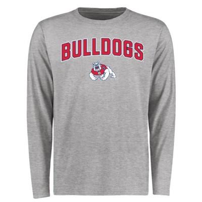 ユニセックス スポーツリーグ アメリカ大学スポーツ Fresno State Bulldogs Proud Mascot Long Sleeve T-Shirt - Ash Tシャツ
