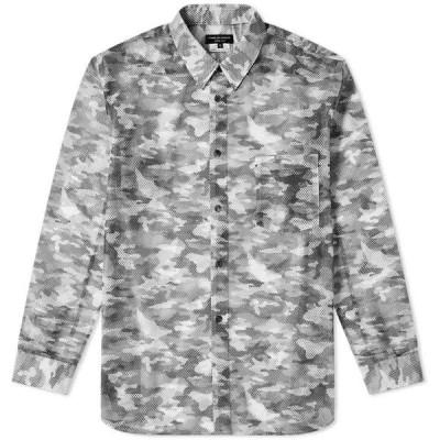 コム デ ギャルソン Comme des Garcons Homme Plus メンズ シャツ トップス Mesh Camo Printed Shirt Black/Khaki