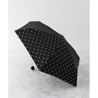 ameme/アメメ マインツ折り畳み傘 ハートBLK FREE