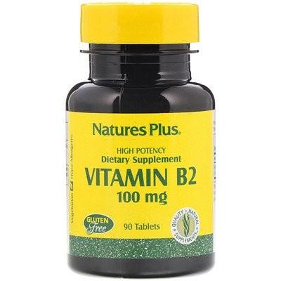 ビタミンB2、100 mg、90錠