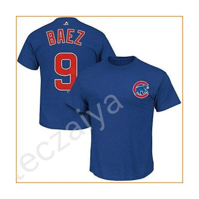 Outerstuff Javier Baez Chicago Cubs MLB Majestic Boys Youth 8-20 Blue Official Player Name & Number T-Shirt (Youth X-Large 18-20)並行輸