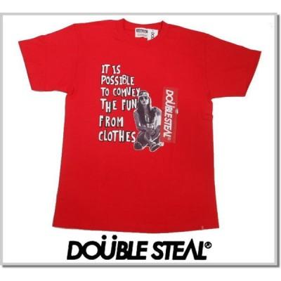 ダブルスティール DOUBLE STEAL BOX girl TEE 992-14024 RED 半袖Tシャツ カットソー