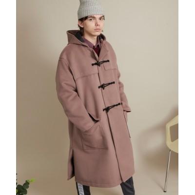 EMMA CLOTHES / オーバーサイズテックウールフーデッドコート/ロングダッフルコート EMMA CLOTHES 2020-2021WINTER MEN ジャケット/アウター > ダッフルコート
