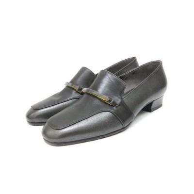 【中古】マドラスモデロ madras MODELLO パンプス レザー 靴 シューズ 22 黒 ブラック /ZT8 レディース 【ベクトル 古着】