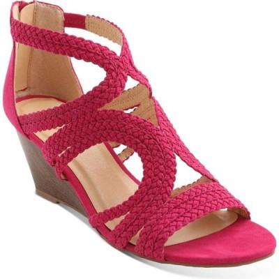 キスキス XOXO レディース サンダル・ミュール ウェッジソール シューズ・靴 Sampson Strappy Wedge Sandals Pink