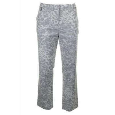 Calvin Klein カルバンクライン ファッション パンツ Calvin Klein Grey White Combo Printed Zip-Detail Trousers 14