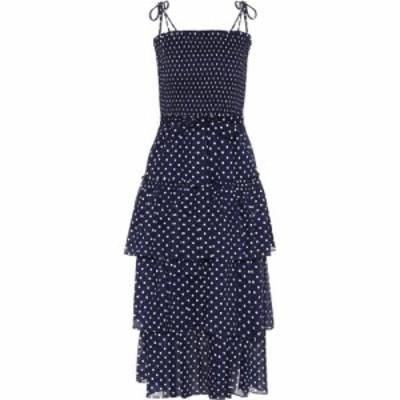 トリー バーチ Tory Burch レディース ワンピース ミドル丈 ワンピース・ドレス Polka-dot cotton midi dress Classic Dot