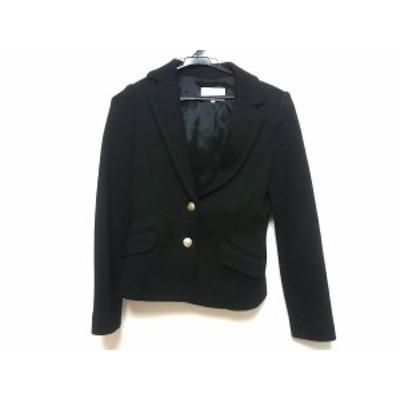 エムプルミエ M-PREMIER ジャケット サイズ38 M レディース 黒 ニット/肩パッド【還元祭対象】【中古】