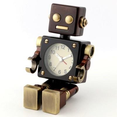 ミニチュアクロックコレクション[Miniature Clock Collection]ミニチュア置時計 ロボット アンティーク アラーム機能付き/MC-AC570-BR