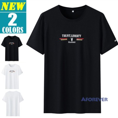 半袖Tシャツ Tシャツ メンズ クルーネック プリントTシャツ 夏 サマー カジュアル お兄系