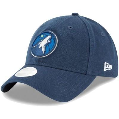 ニューエラ 帽子 アクセサリー レディース Minnesota Timberwolves New Era Women's Core Classic 9TWENTY Adjustable Hat Blue