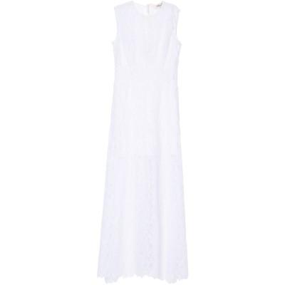 ダイアンフォンファステンバーグ DIANE VON FURSTENBERG ロングワンピース&ドレス ホワイト 0 ポリエステル 95% / ポリウ