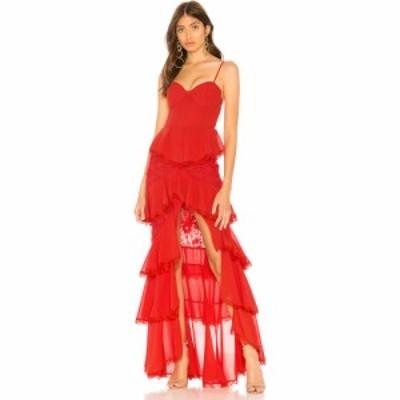 マジョレル MAJORELLE レディース パーティードレス ワンピース・ドレス Zelda Fitz Gown Red