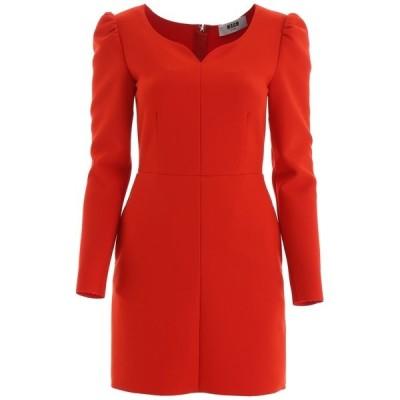 エムエスジイエム レディース ワンピース トップス MSGM Sweetheart Neckline Fitted Dress -
