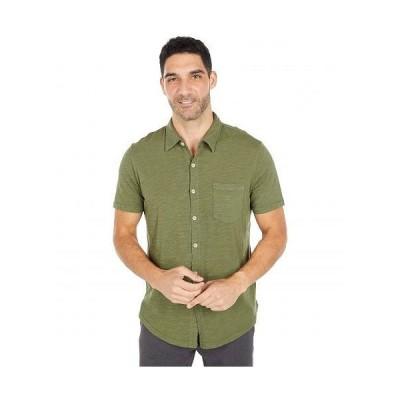 Mod-o-doc モッドオードック メンズ 男性用 ファッション ボタンシャツ Montana Short Sleeve Button Front Shirt - Cypress